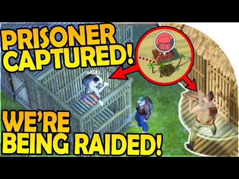 WE'RE BEING RAIDED + CAPTURING our FIRST PRISONER! - REVENGE RAID - Jurassic Survival Gameplay