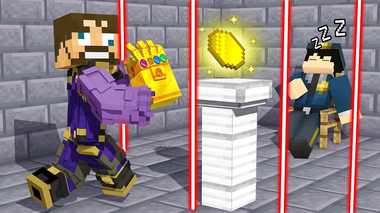 BREAKING INTO The *TIME STONE* VAULT in Insane Craft (Minecraft)