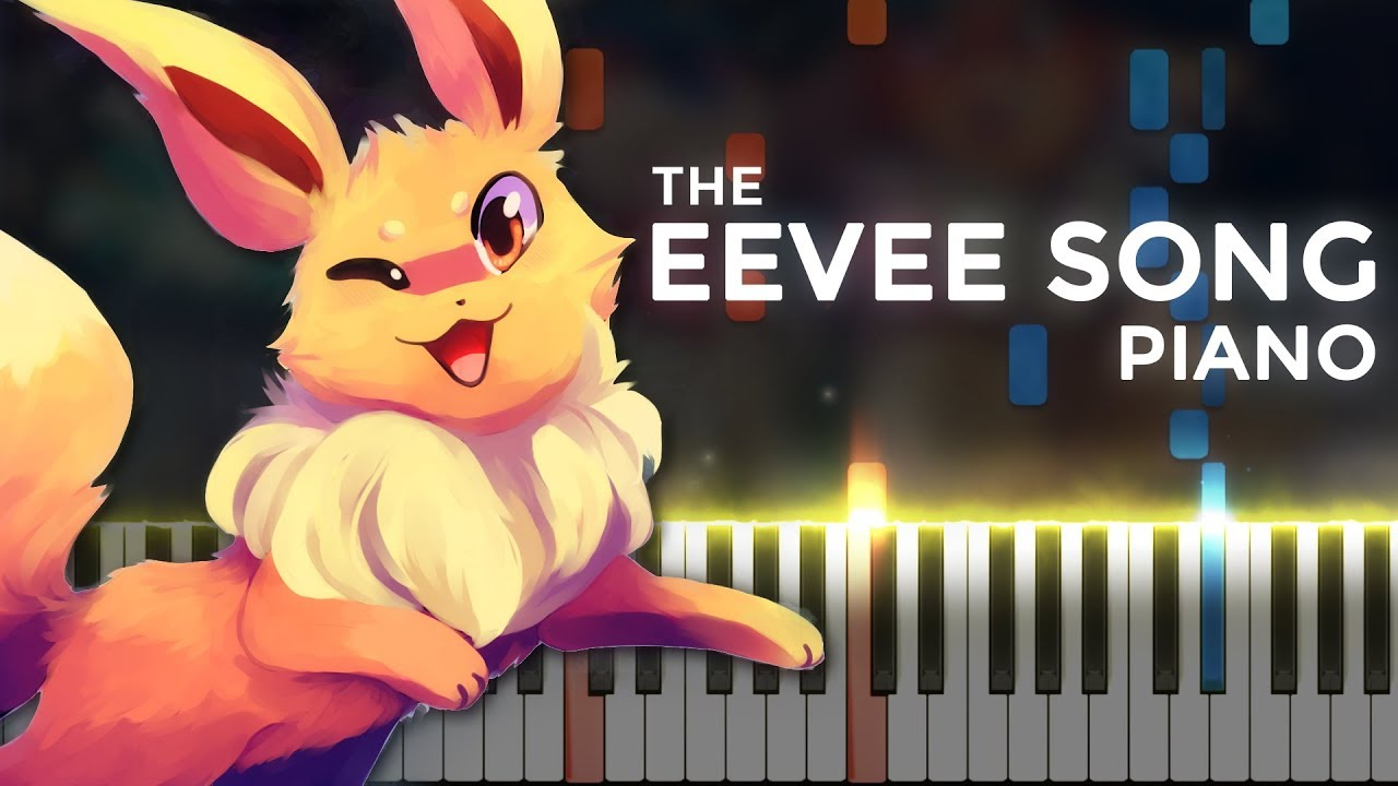 The Eevee Song (Random Encounters) | LyricWulf Piano Tutorial on Synthesia