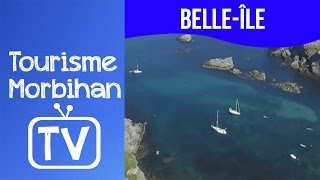 Belle Île,mouillage de Ster Vraz vue du ciel | Tourisme Morbihan TV