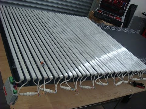 how to build a LED Display Part 2 LED Tube Screen WS2813 rigid Bars 1000X2000mm foldable