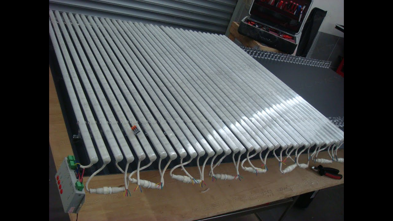 how to build a LED Display Part 2 LED Tube Screen WS2813 rigid Bars ...
