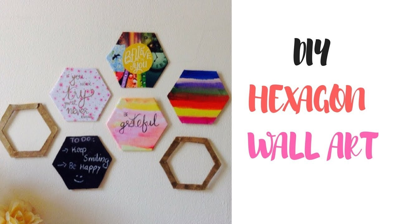 Diy Hexagon Wall Decor Tumblr Inspired Youtube