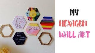 Diy Hexagon Wall Decor   Tumblr Inspired