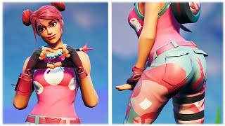 "*NEW* CUTE ""BUBBLE BOMBER"" SKIN SHOWCASED WITH THICC DANCE EMOTES 😍❤️ Fortnite Season x"