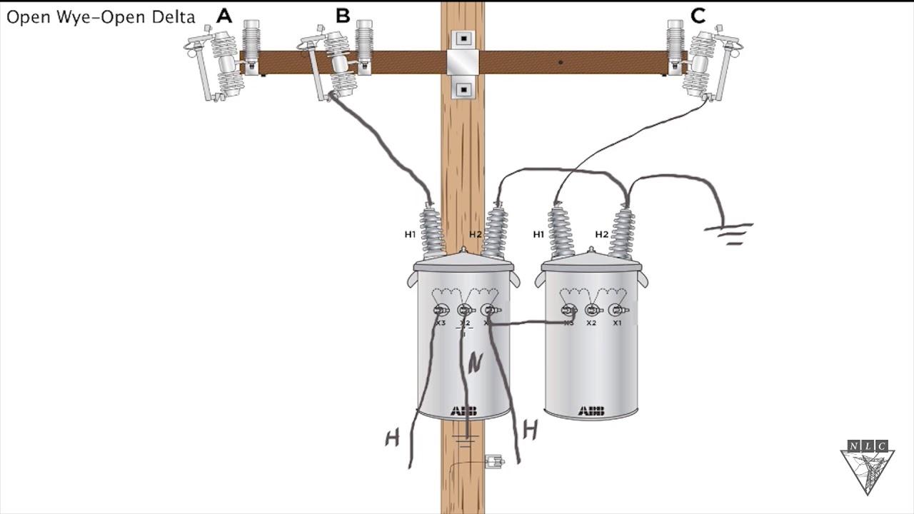 chalk talk open wye open delta same opposite youtube rh youtube com open delta transformer wiring diagram