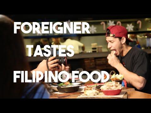 Foreigner Tastes Filipino Foods (American try eats filipino food on GMA News11 Ijuander)