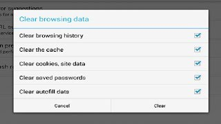 How To Clear Browsing Data History Google Chrome Mobile Android