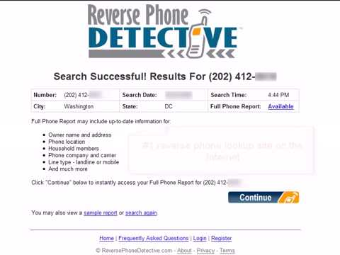 Cell Phone Detective! Find out who called you