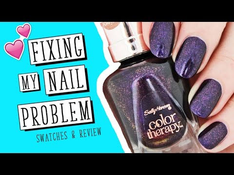 The Polish That FIXED My Nail Problem!   Sally Hansen Color Therapy   Nailed It NZ