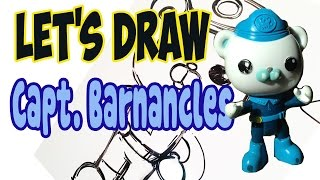 Drawing Captain Barnacles from The Octonauts! (Basic shapes and lines)