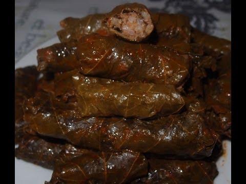 recette:-feuilles-de-vignes-farcie-à-la-viande-hachée-et-riz