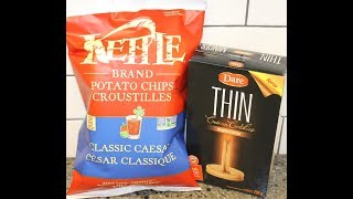 Kettle Brand Classic Caesar Potato Chips & Dare Thin Maple Crème Cookies Review