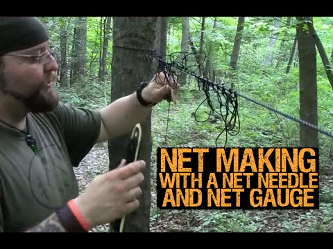 Net Making with a Net Needle and a Net Gauge -Mantis Outdoors