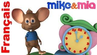 Comptines et chansons pour enfants   Hickory Dickory Dock   français Comptines   Mike et Mia
