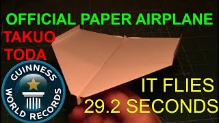 How to make the official new guinness record paper airplane, flies 29.2s