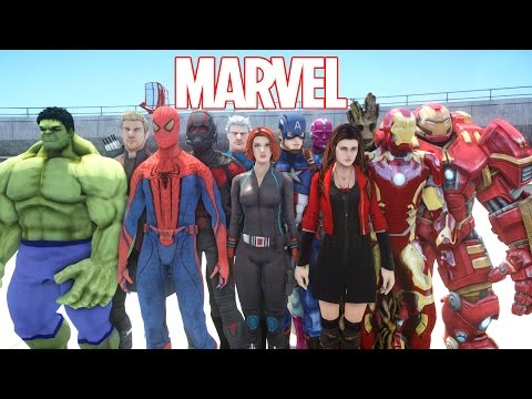 Thumbnail: ALL MARVEL SUPERHEROES IN GRAND THEFT AUTO