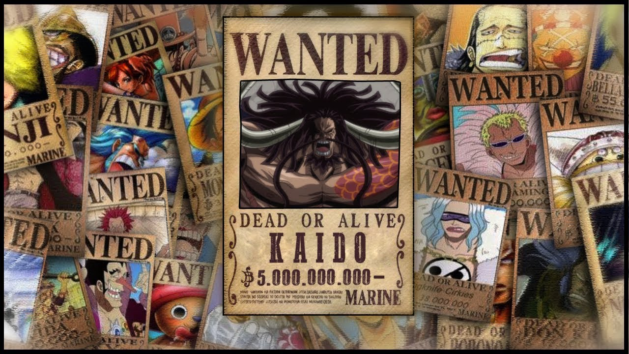 One Piece Shanks Kopfgeld