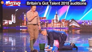 FUNNY AUDITION FAILS  Auditions Britain's Got Talent 2018 S12E01