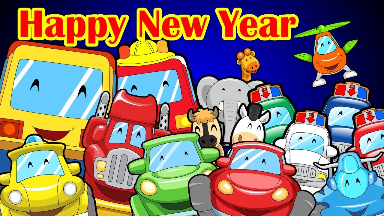 Happy New Year   Mr Wheeler Friends  CARtoons   YouTube  Happy New Year   Mr Wheeler Friends  CARtoons   YouTube