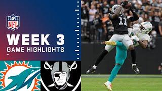 Dolphins vs. Raiders Week 3 Highlights | NFL 2021