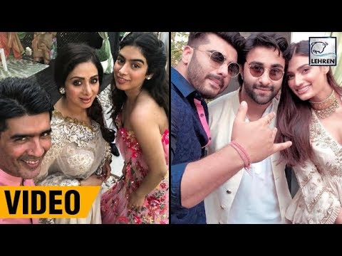 Sridevi, Khushi Kapoor, Arjun Kapoor At Mohit Marwah's Grand Wedding In UAE | LehrenTV