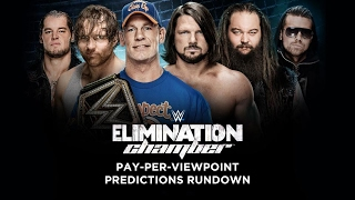 WWE ELIMINATION CHAMBER 2017 PPV Event Match Card and Predictions Rundown