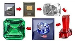 YOUTUBE Gifts | silver , gold, diamond rubby play button