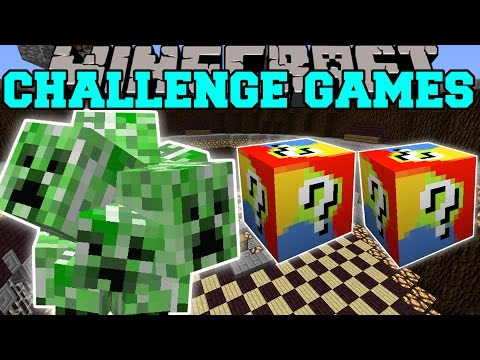 Minecraft: CREEP CHALLENGE GAMES - Lucky Block Mod - Modded