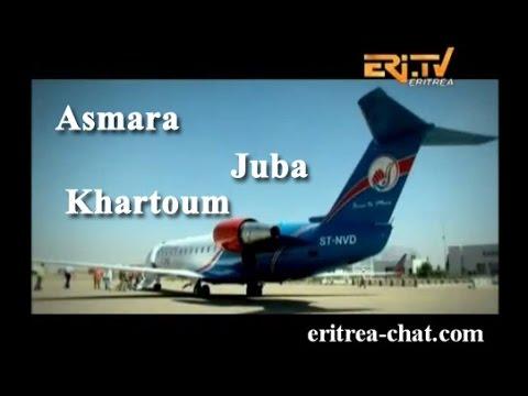EriTV - Nova Airlines Flight Route from Asmara - Eritrea to Juba and Khartoum