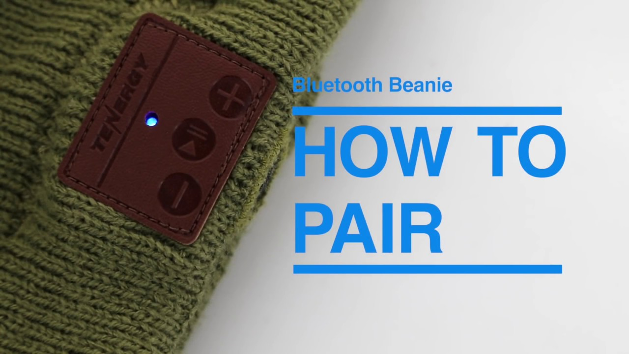 f85337ca492 How to pair your Tenergy Bluetooth Beanie - YouTube