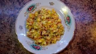 Салат оливье ( советский ) / salad Olivie (Soviet)