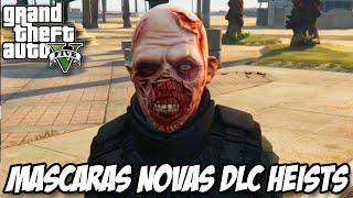 GTA V - NOVAS MASCARAS, Zumbi, vampiro, saco de papel e mais DLC HEISTS