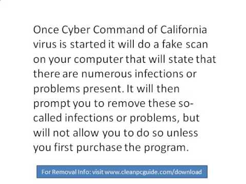 Cyber Command of California virus