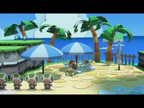 Bloo Bay Beach (Mini Star 1) - Paper Mario: Color Splash Walkthrough