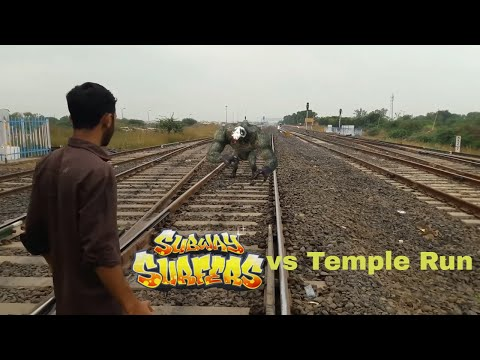 Temple Run 2 VS Subway Surfers IN REAL LIFE