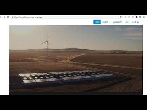 World's Biggest Battery And Pumped Hydro To Store Electric Energy In South Australia Video Nov 2018
