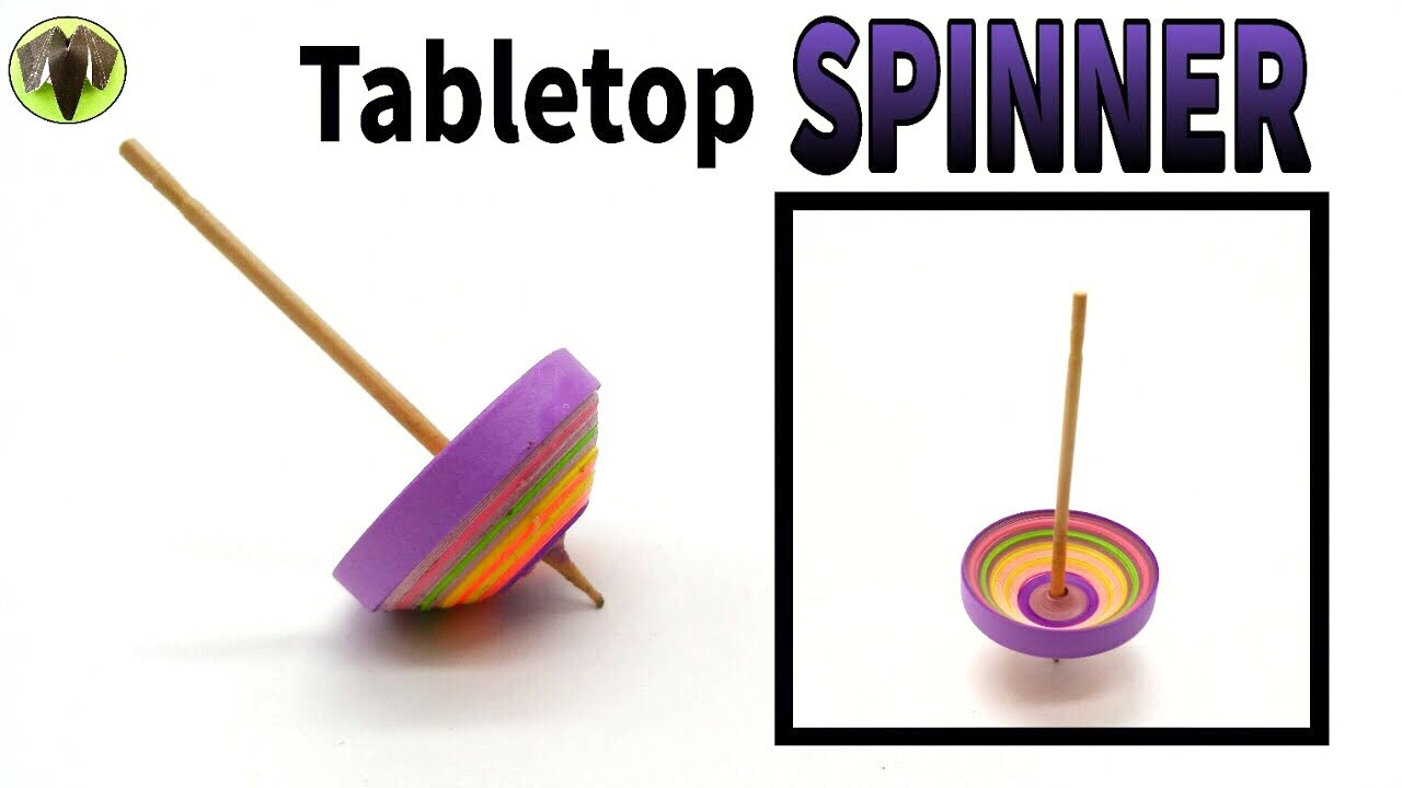 Tabletop Spinner Spins Around 25 Seconds Diy Toy Quilling Tutorial By Paper Folds 725