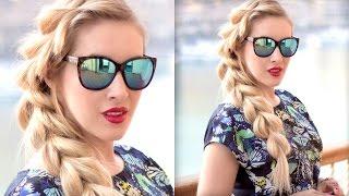 French pull through/split braid ❤ Easy medium/long hair tutorial, frisuren für lange haare