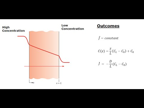 Heat & Mass Transfer - Fick's First Law and Thin Film Diffusion