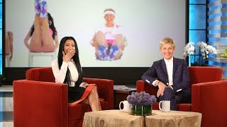 Nicki Minaj Reacts to Ellen's 'Anaconda'