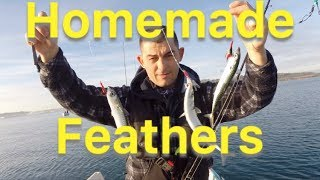 How To Make Mackerel Feathers - Mackerel fishing for beginners and making your own feathers