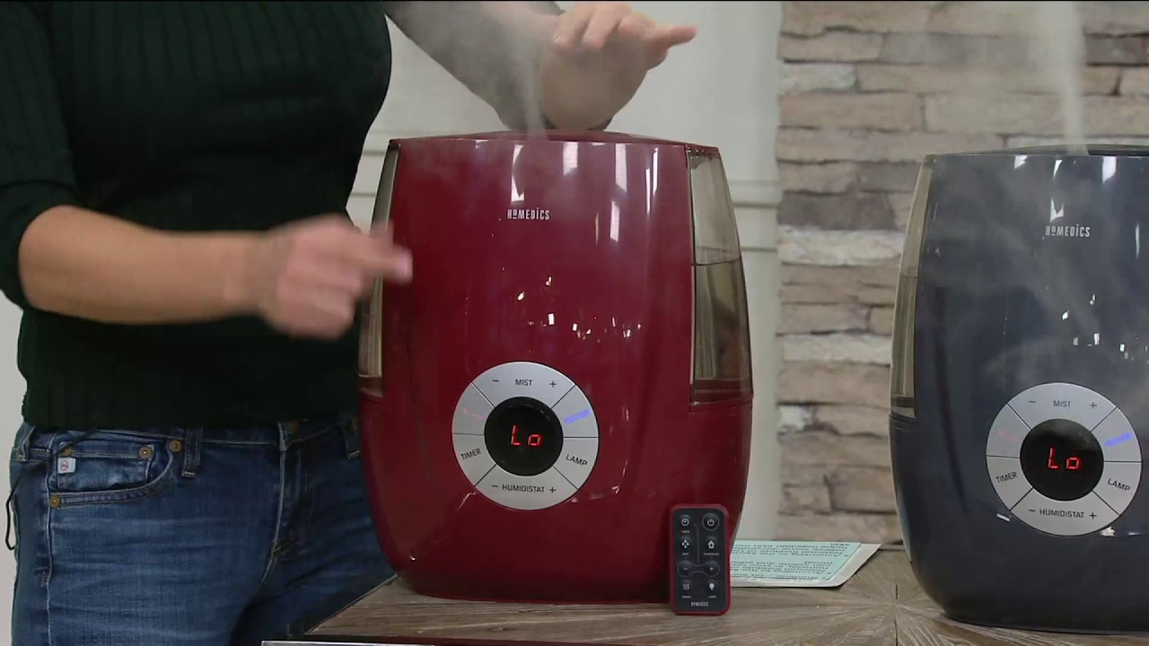 HoMedics Ultrasonic Warm Cool Mist Humidifier With Remote On QVC