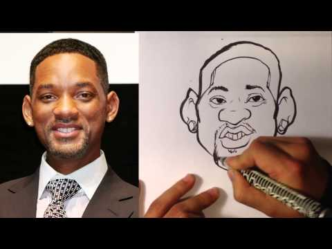 How to Caricature - Will Smith - Easy Pictures to Draw