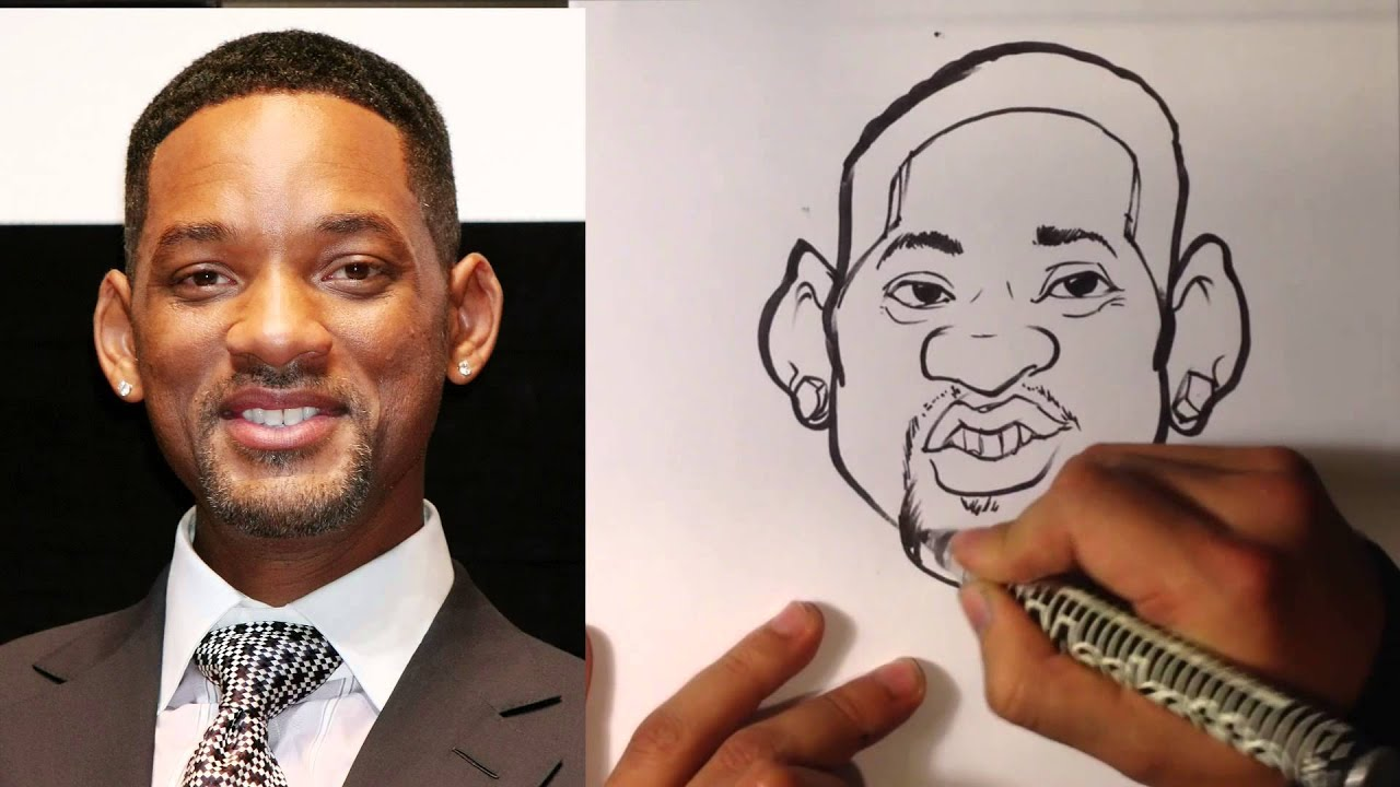 How to Caricature - Will Smith - Easy Pictures to Draw - YouTube