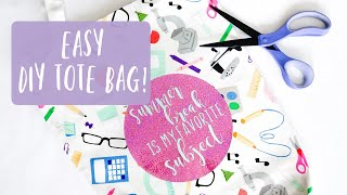 DIY TOTE BAG with HOLOGRAPHIC HEAT TRANSFER VINYL (HTV) | LEARN HOW TO LAYER HTV!