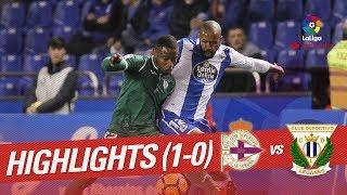 Resumen de RC Deportivo vs CD Legans 1-0