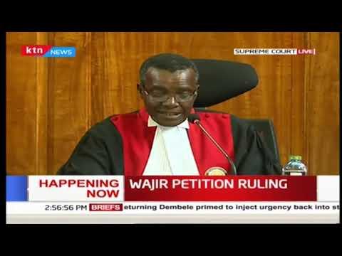 Wajir petition ruling.