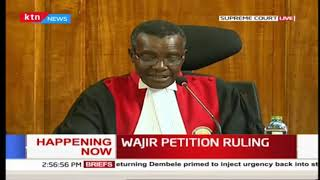 Wajir petition ruling.