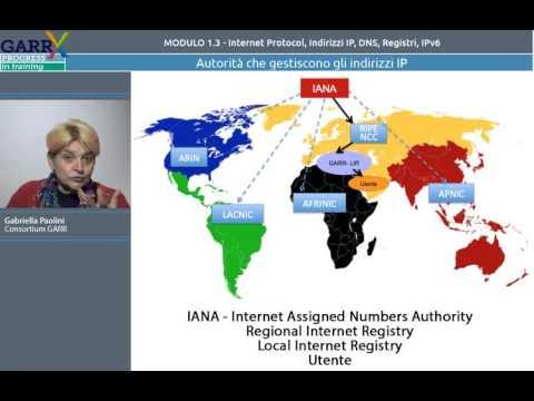 MODULO 1.3 - Internet Protocol, Indirizzi IP, DNS, Registri, IPV6 - Gabriella Paolini